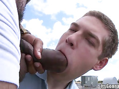 White cutie sucks titanic cock