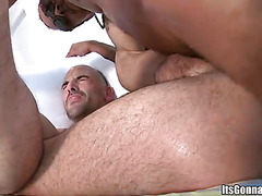 Phat cock fucks haired guy