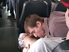 Gay cocksucking on a bus