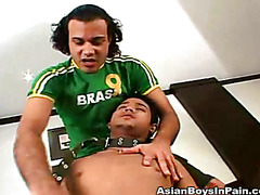 He undresses his Asian lover