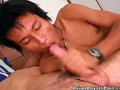 Asian cutie sucks a dick