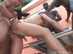 Gangbanged by ebony guys