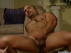 Hairy bear fucked in ass