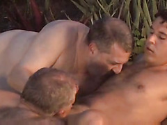 Dad oral sex in pool