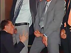 Gay orgy at work