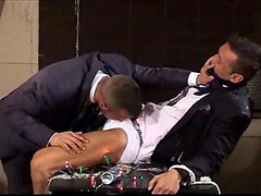Man in suit fucked hard