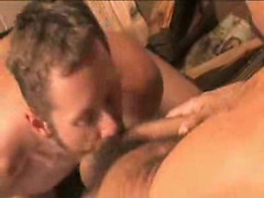 Bearded bottom anal sex scene