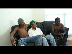 Teenage dark guys gay 3some