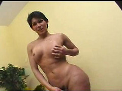 Latina tranny in anal threesome