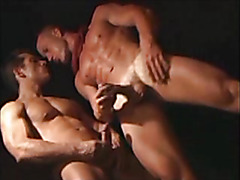 Gay gangbang with double penetration