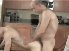 Daddy fucks young blonde