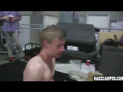 Straight guy forced blowjob
