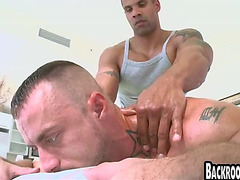 Interracial muscle massage