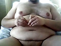chub fat guy nipple fun masturbation
