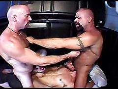 Hot bears hardcore threesome