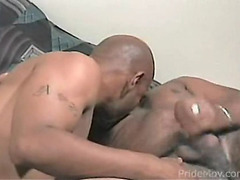 Black guys blow and stroke