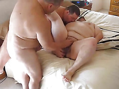 Three chubby dudes fuck