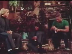 Retro gay triplet scene