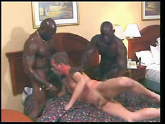 Sweaty black gay men threesome