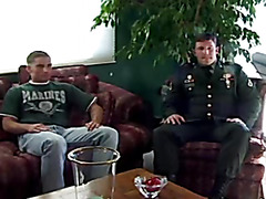 Military recruiter fucks potential soldier