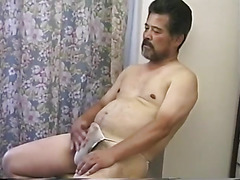 Solo Asian bear cums