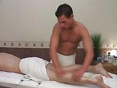 Bareback big cock after massage