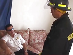 Aroused firemen and anal sex