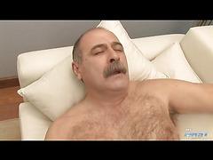 Chubby Italian daddy jerks off