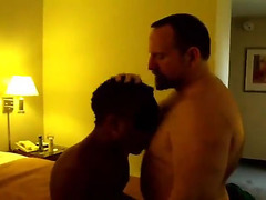 Daddy fucks black cutie