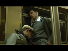 Sucking cock on the subway