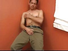 Hairy solo Latin cock stroker