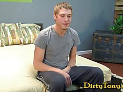 Hung Blond Boy Gives BJ