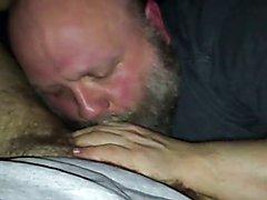 Large bear suckin my penis