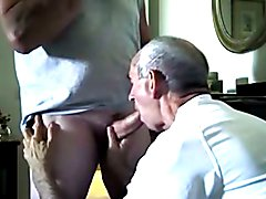 Retired cop gets a cock sucking