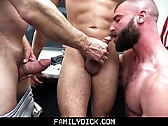 Familydick - professor and stepdad plow an innocent boy's tight butt hole