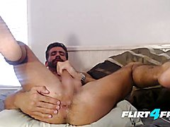 Brett king - flirt4free - straight lad plays with his backside and monster pecker
