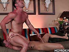 Athletic gay men in a perverted gay sex scene