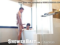 Showerbait str8 guy shower banged by gay friend