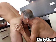 Semen loving papa knocked off by hot youngster