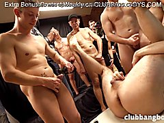 Gay gang bang: tj banged by all our guests