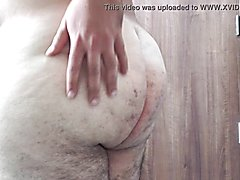 Tanned arab phat showing his backside