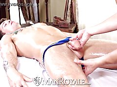 Hd manroyale hardcore massage and butt shagging for two hunks