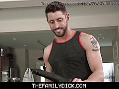 Teenager stepson jace madden and hot hunk stepdad johnny ford family sex with