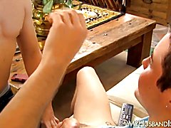 Backside stuffing session fornjock husband cheating with a man