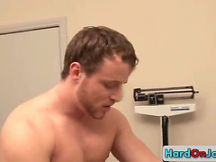 Doctor visit with gay cock sucking