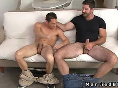 Haired guy has penis worshipped