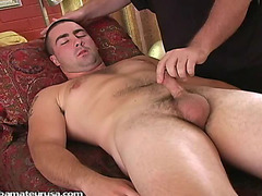 Gay massage of his cock