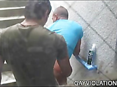 Gay amateurs caught knocking off in public