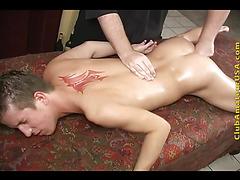 Fingering the cute massage client