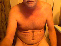 Old hairy guy amateur masturbation